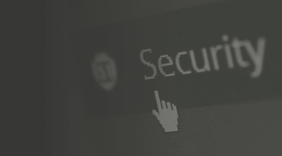 Bouton de site internet pour régler les paramètres de sécurité